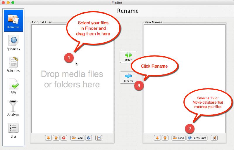 Filebot Rename Files