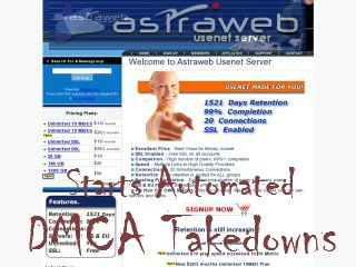 Astraweb Starts Automated Dmca Takedowns