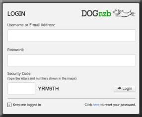 Dognzb Screenshot