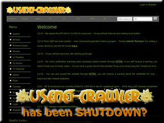 Usenet Crawler Throws in the Towel