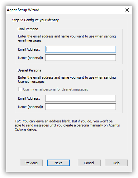 Forte Agent Newsreader Configure Your Identity