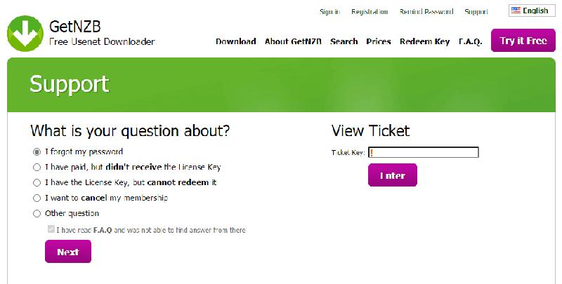Getnzb Newsreader Support Ticket