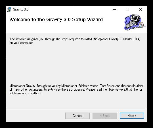 Microplanet Gravity Newsreader Setup 2
