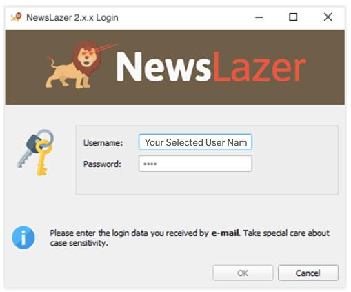 Newslazer Log In
