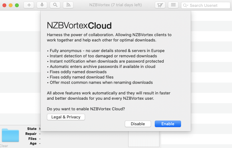 Nzbvortex Cloud Service
