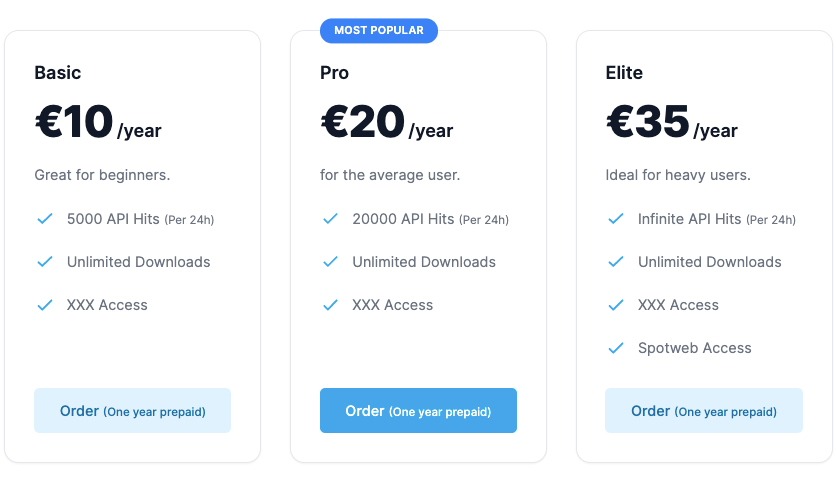 Nzbfinder Pricing