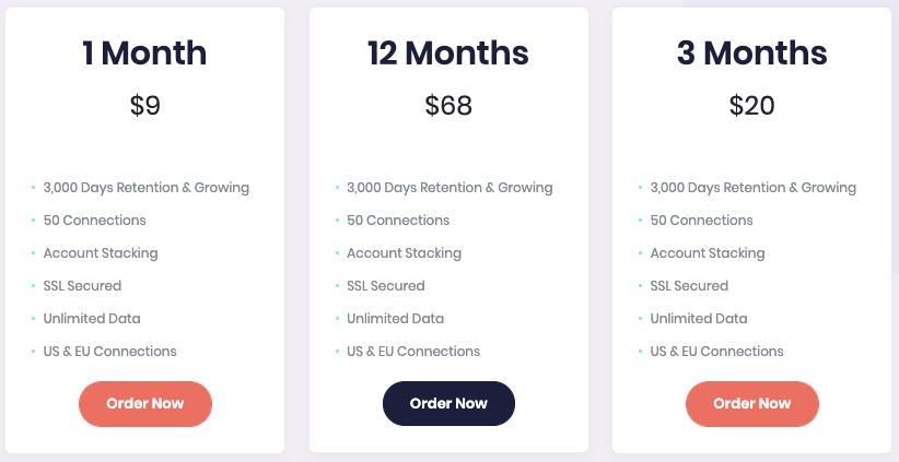 Usenetfire Monthly Pricing