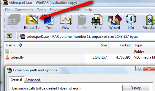 Easy Extraction With Winrar